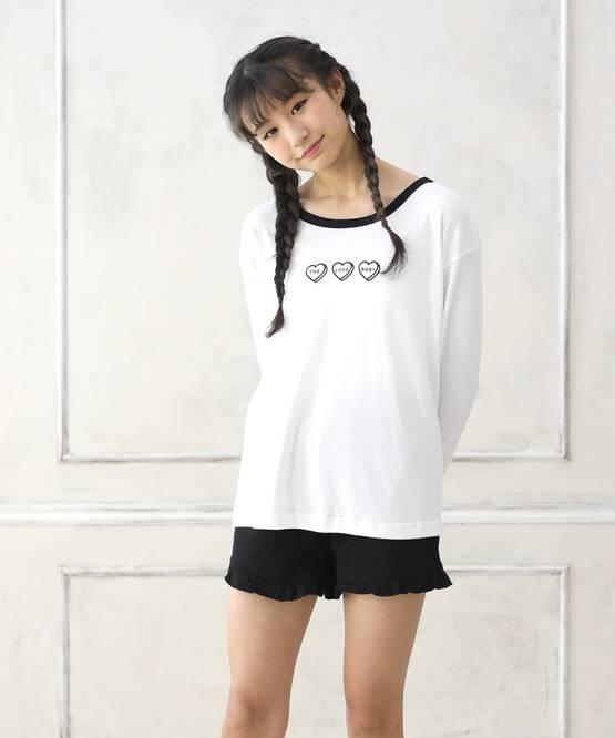【期間限定セール】長袖Tシャツ&ショートパンツset[2色展開]