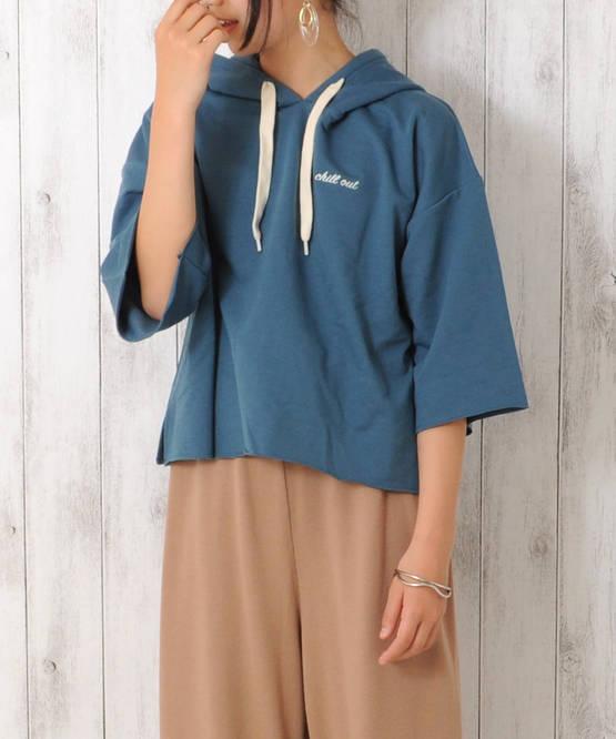 フードスウェットシャツ[2色展開]