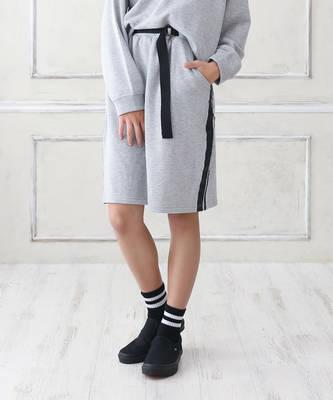 【LACEEQ】【スペシャルセール】サイドラインスカート[2色展開]