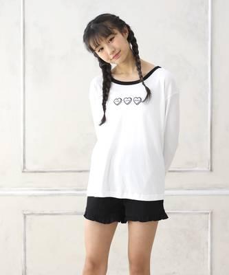 【LACEEQ】【スペシャルセール】長袖Tシャツ&ショートパンツset[2色展開]