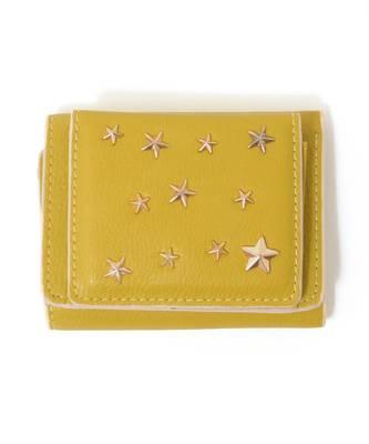 【LACEEQ Select】【スペシャルセール】星型スタッズ三つ折りミニ財布[2色展開]
