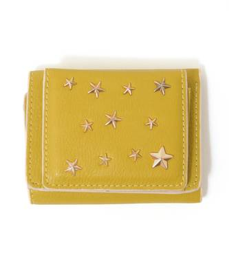 【LACEEQ Select】星型スタッズ三つ折りミニ財布[2色展開]