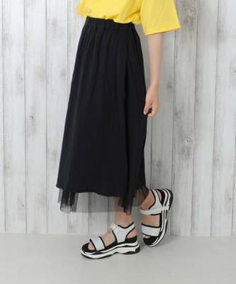 【LACEEQ】【スペシャルセール】チュールリバーシブルスカート[2色展開]